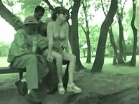 Illegal immigrants mating white woman in French park