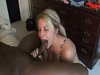 Blonde Cutie Sucks Black Cock